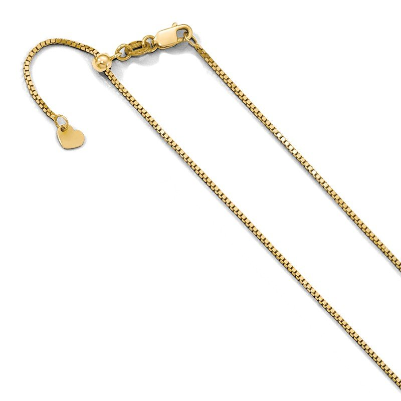 Leslie's Leslie's 10K Yellow Gold .9 mm Adjustable Box Chain