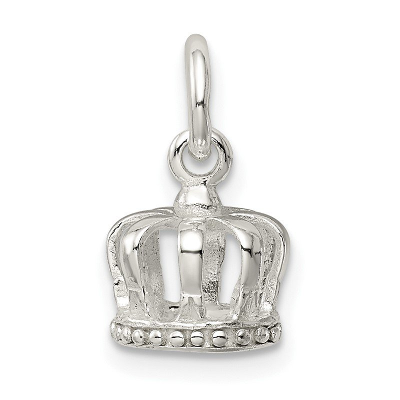 Quality Gold Sterling Silver Crown Charm