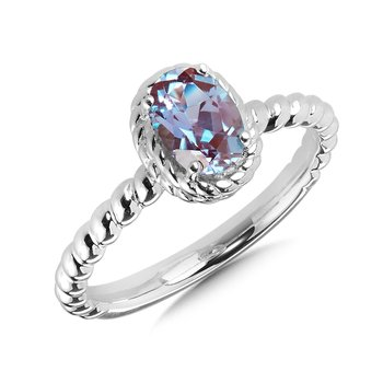Created Alexandrite Ring in Sterling Silver