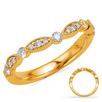 Yellow Gold Matching Curved Band