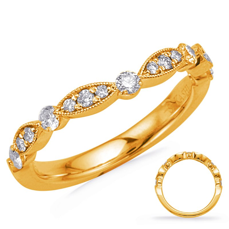 S. Kashi & Sons Bridal Yellow Gold Matching Curved Band