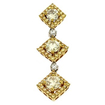 White Gold Yellow Diamond Pendant