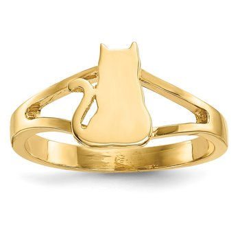 14k Polished Cat Ring