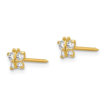 Inverness 14k Butterfly CZ Earrings