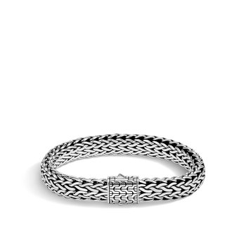Classic Chain 11MM Bracelet in Silver