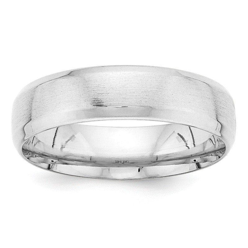 Arizona Diamond Center Collection 14k White Gold Light Comfort Fit Fancy Band