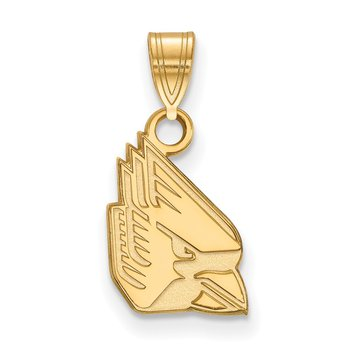 Gold Ball State University NCAA Pendant