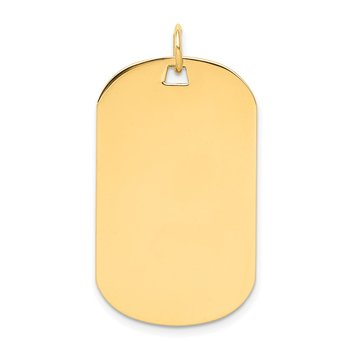 14k Plain .027 Gauge Engraveable Dog Tag Disc Charm