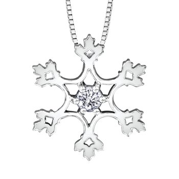 Maple Leaf Diamonds™ Winter Small Snowflake Pendant