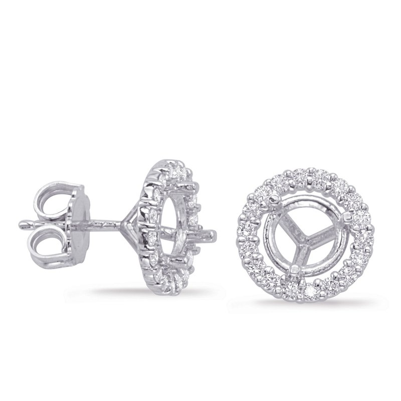S. Kashi  & Sons Three Prong Earring Setting 2ct