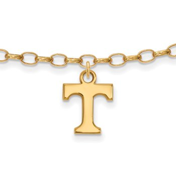Gold-Plated Sterling Silver University of Tennessee NCAA Bracelet