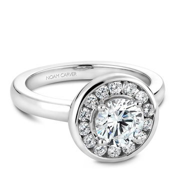 Noam Carver Modern Engagement Ring B037-02A