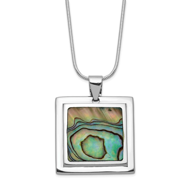 Quality Gold Sterling Silver Abalone Pendant Necklace
