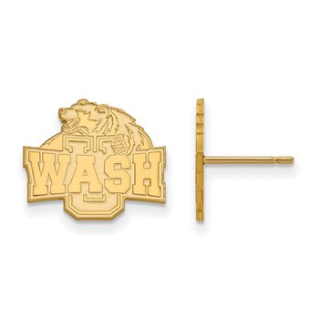 Gold Washington University in St. Louis NCAA Earrings