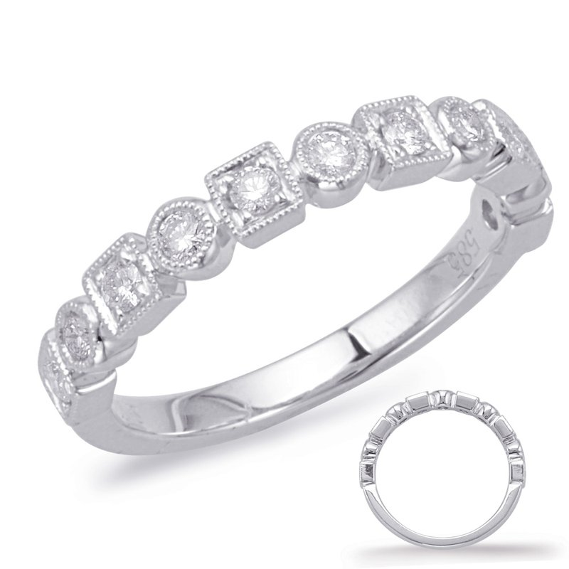 S. Kashi & Sons Bridal White Gold Matching Band