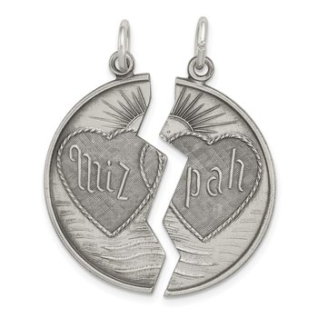 Sterling Silver Antiqued Mizpah Charm