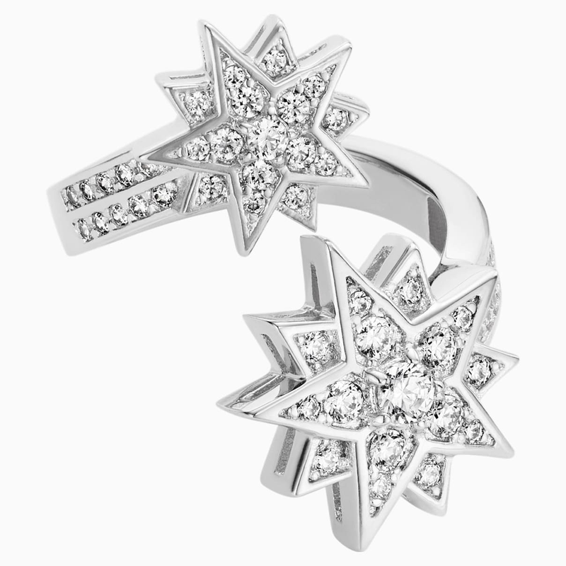 Swarovski Penélope Cruz Moonsun Ring, Limited Edition, White, Rhodium plated