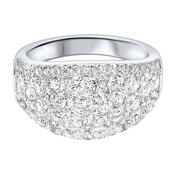 Diamond French Pave Tapered Ring in 14k White Gold (2 ¼ ctw)