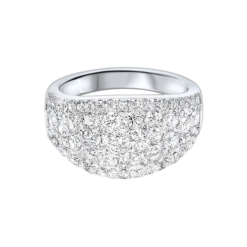 Gems One Diamond French Pave Tapered Ring in 14k White Gold (2 ¼ ctw)
