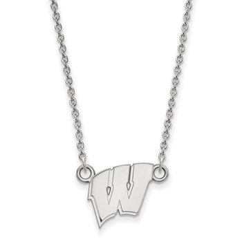 Sterling Silver University of Wisconsin NCAA Necklace