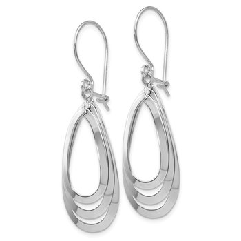 Leslie's 14K White Gold Polished Dangle Earrings
