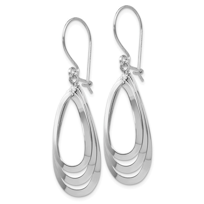 Leslie's Leslie's 14K White Gold Polished Dangle Earrings