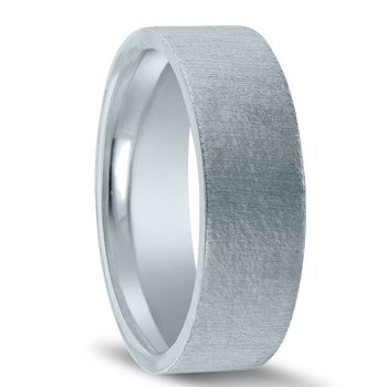 N17228 - Men's Wedding Band with Organic Finish