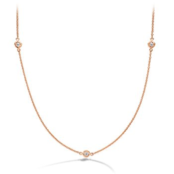 0.22 ctw. Optima 3 Station Necklace