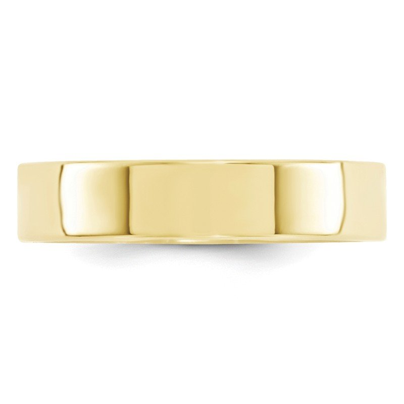 Quality Gold 10KY 5mm Standard Flat Comfort Fit Band Size 10