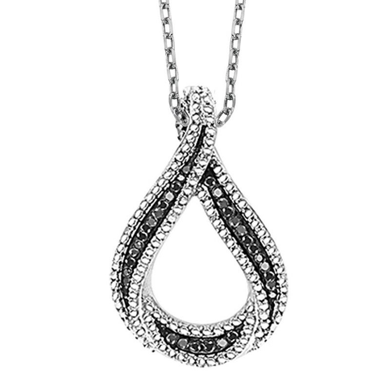 Mixables Silver Black Diamond Pendant