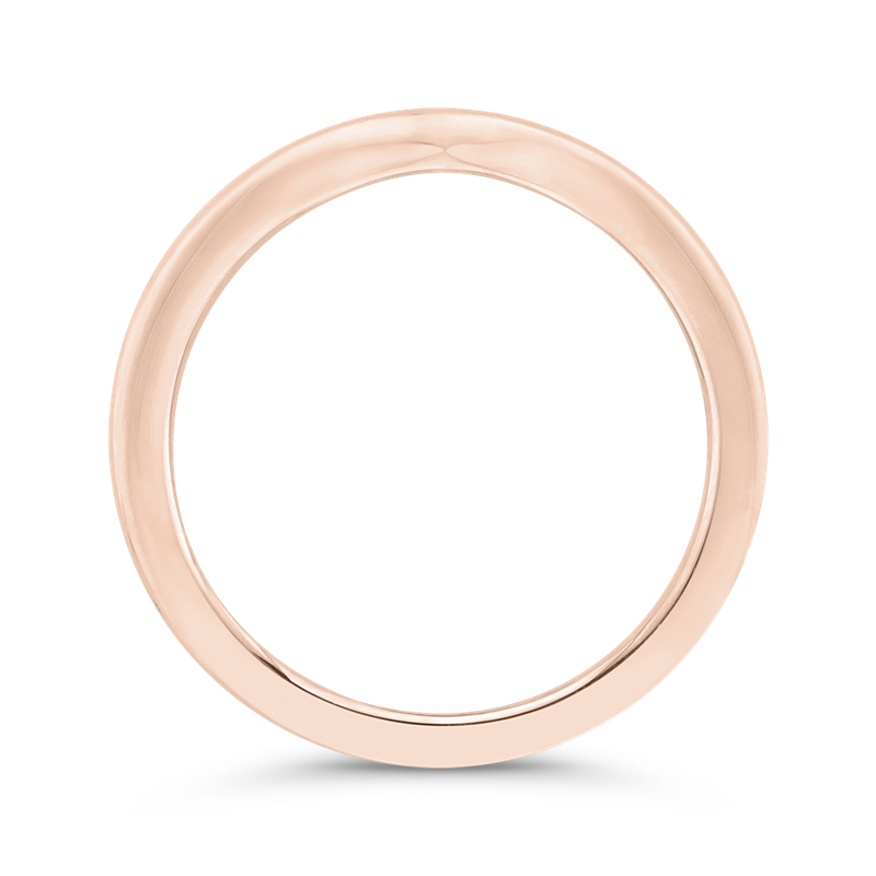 Carizza 14K Rose Gold Plain Wedding Band