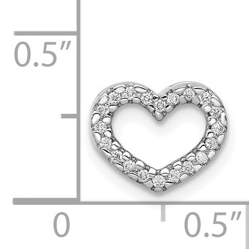 14k Rose Gold 1/15ct. Diamond Heart Chain Slide