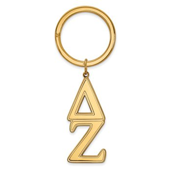 Gold-Plated Sterling Silver Delta Zeta Greek Life Key Chain