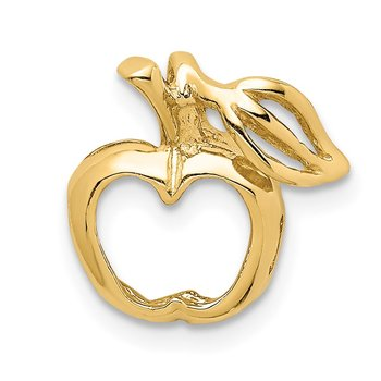 14K Polished Cut-out Apple Chain Slide