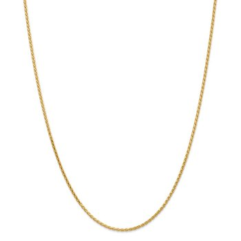 14K 1.9mm D/C Parisian Wheat Chain