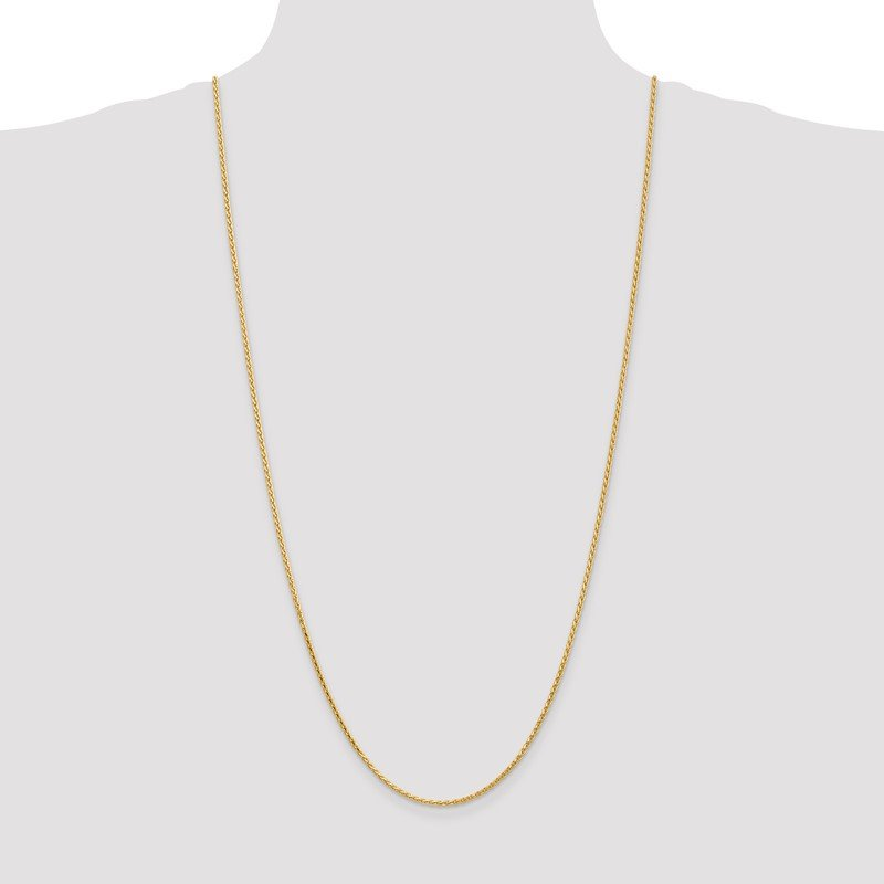 Quality Gold 14K 1.9mm D/C Parisian Wheat Chain