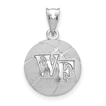 Sterling Silver Wake Forest University NCAA Pendant