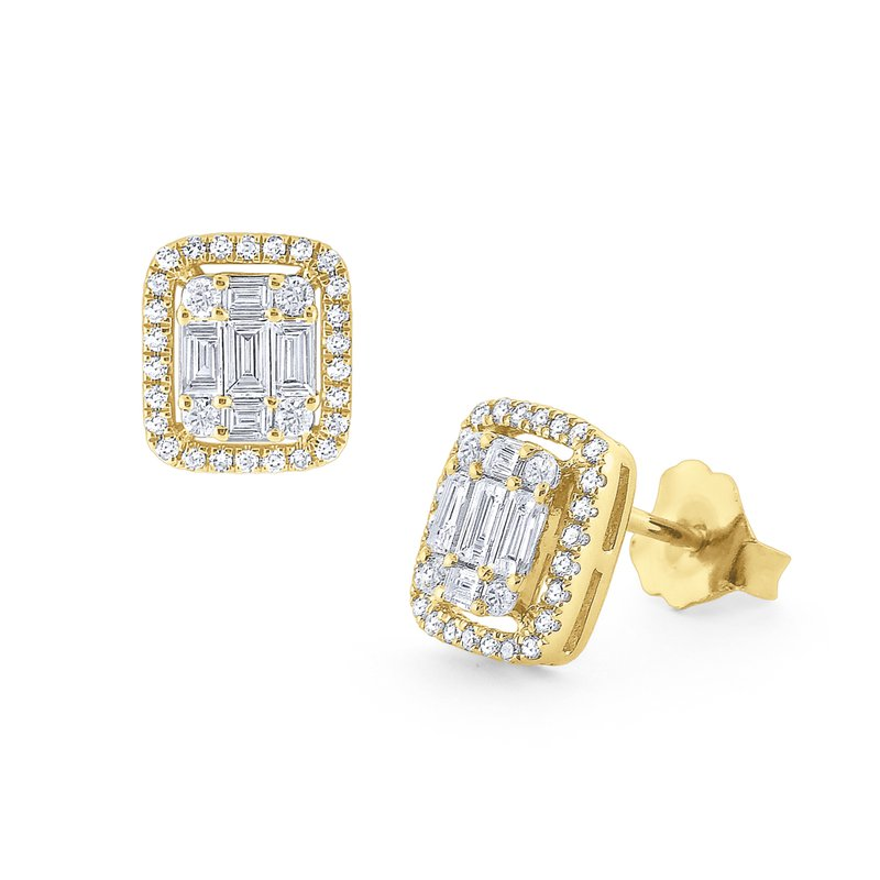 KC Designs Diamond Mosaic Stud Earrings Set in 14Kt. Gold