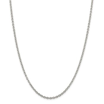 Sterling Silver 2.75mm Cable Chain
