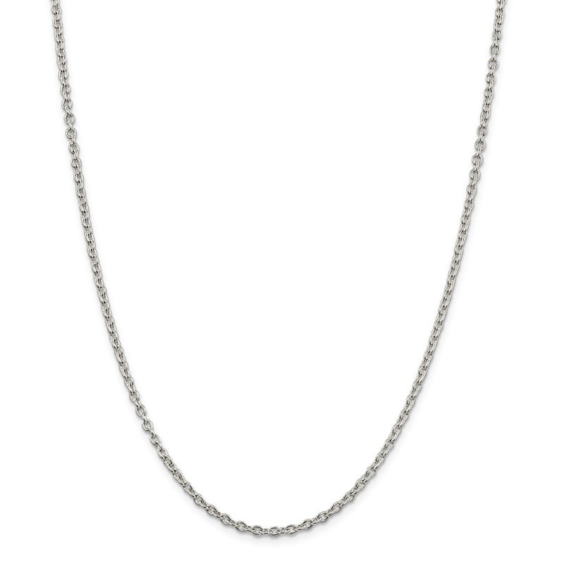 Quality Gold Sterling Silver 2.75mm Cable Chain