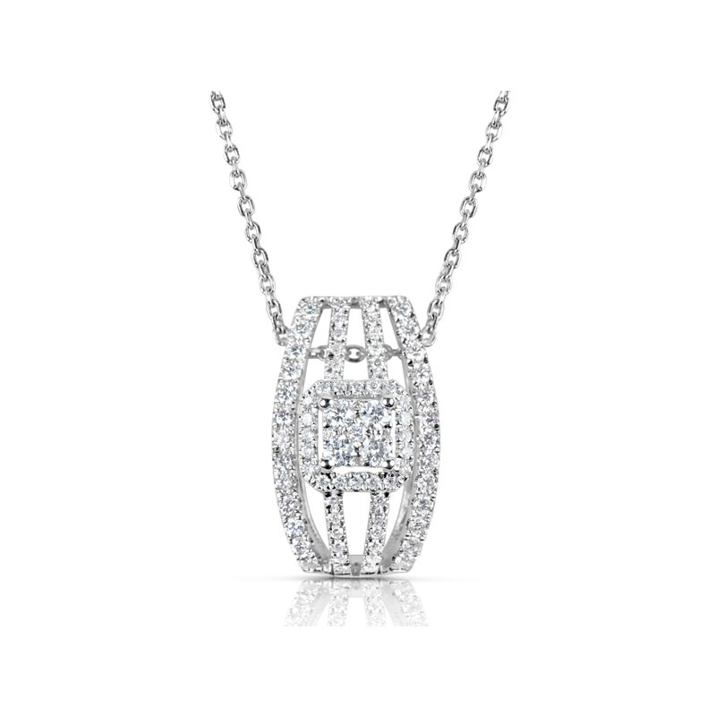 S. Kashi  & Sons Rose & White Gold  Diamond Pendant