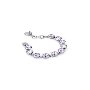 316L stainless steel and violet Swarovski® Elements