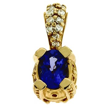 Tanzanite./diamond Pendant