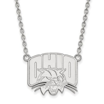 Sterling Silver Ohio University NCAA Necklace