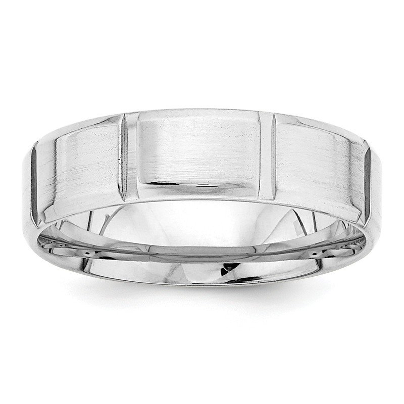 Lester Martin Online Collection 14k White Gold Light Comfort Fit Fancy Band