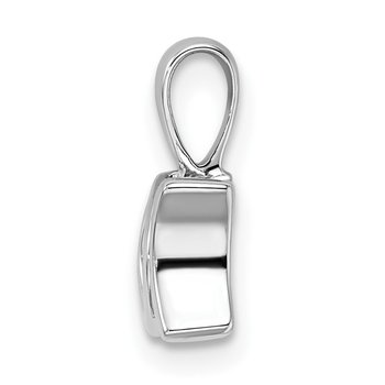 Sterling Silver Rhodium-plated Vibrant Diamond Mom Pendant