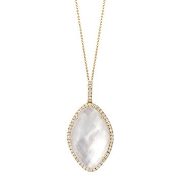 White Orchid Mother of Pearl Pendant