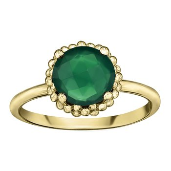 Green Onyx Ladies Ring