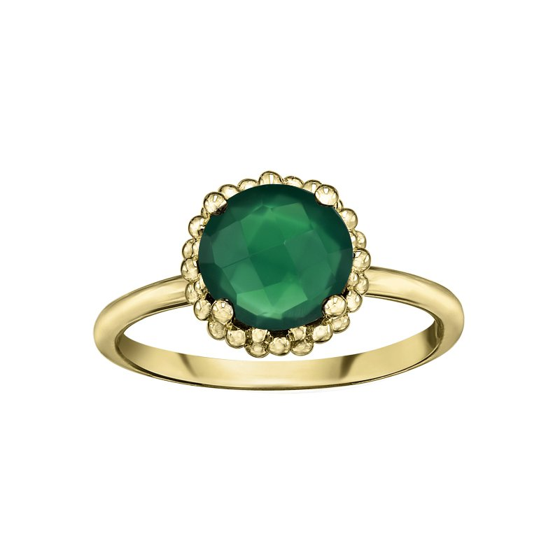 Lasting Treasures™ Green Onyx Ladies Ring