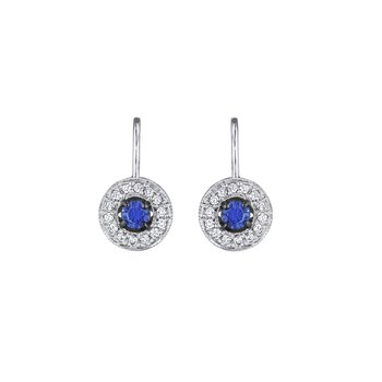 Classic Round Blue Sapphire Earrings